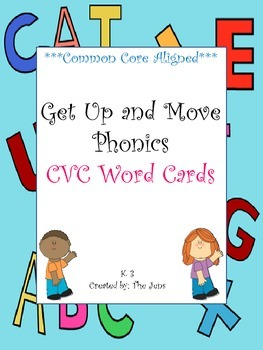 Get Up and Move Phonics ***CVC Words***