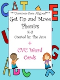 Get Up and Move Phonics  (now with 8 more games!) ***Common Core Aligned***