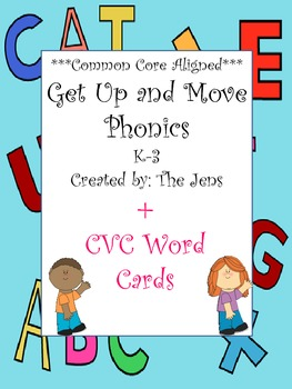 Get Up and Move Phonics  (now with 8 more games!) ***Commo