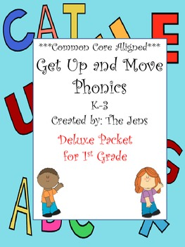 Get Up and Move Phonics ***Common Core Aligned*** Deluxe Packet for 1st Grade
