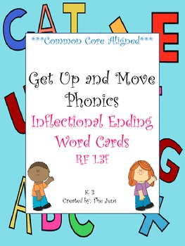 Get Up and Move Phonics ***Inflectional Endings*** NOW WITH FREE ACTIVITY