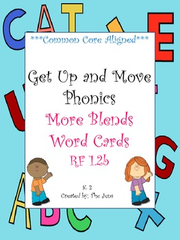 Get Up and Move Phonics ***More Blends and Digraph Blends*** WITH FREE ACTIVITY