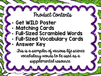 Life Science Scrambled Word Task Cards