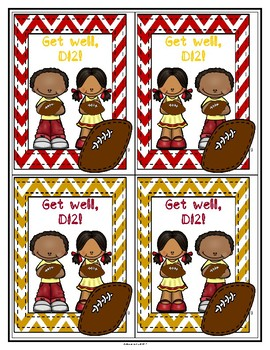 Get Well, Number 12! Greeting Cards-Small (Deondre Francois) (Haiti)