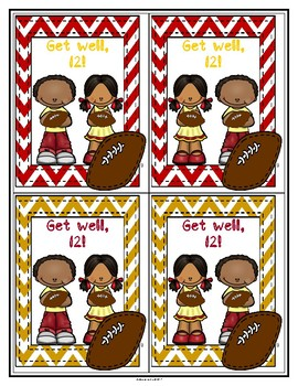 Get Well, Number 12! Football Greeting Cards-Small (Deondre Francois) (Haiti)