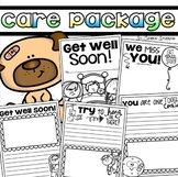 Get Well Soon Book Cards Care Package Writing Activities for Students