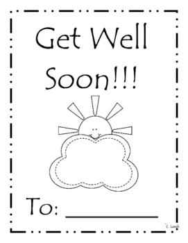 Get Well Soon Class Book
