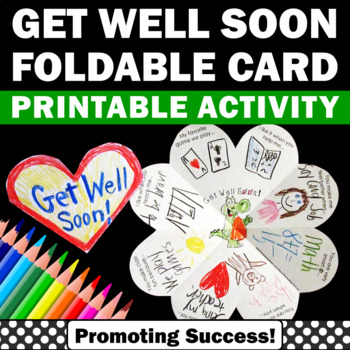 Get Well Card for Sick Kids, Get Well Soon Cards for Student or Teacher