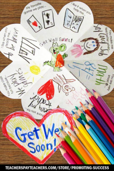 Get Well Soon Coloring Card for Kids to Make