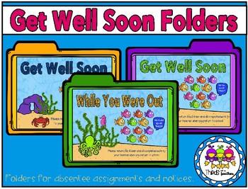 Get Well Soon Folders (for absentee work)
