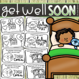 Get Well Soon Mini Book Activity Cards for Students or Class