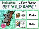 Get Wild - Subtraction Fact Fluency 1-12 Game