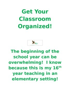Get Your Classroom Organized