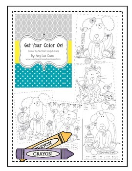 Get Your Color On (Back to School Cats & Dogs)