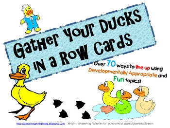 Get Your Ducks in a Row Line Up Idea Cards