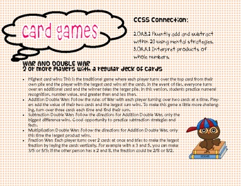 Get Your Game On: Card Games