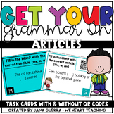 Grammar Task Cards: Articles (a, an, the)