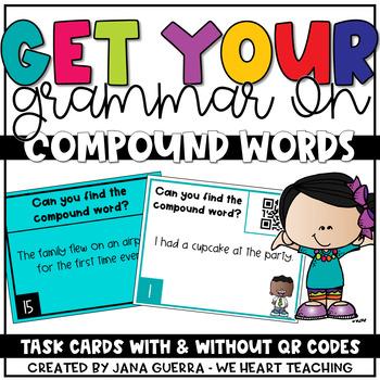 Gammar Task Cards: Compound Words