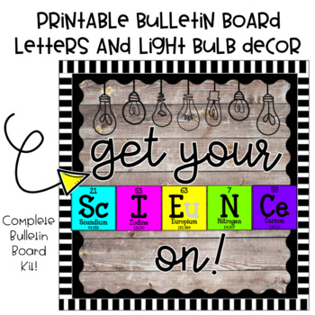 Get Your Science On Bulletin Board Kit