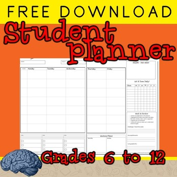 Planner to Get Your Students Organized This Year