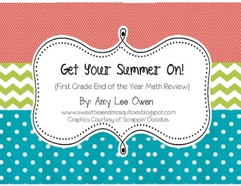 Get Your Summer On (First Grade End of the Year Math Review)