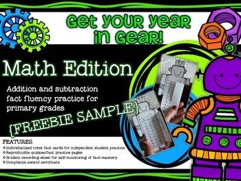 Get Your Year in Gear Math Edition {FREEBIE}