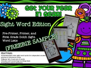 Get Your Year in Gear Sight Word Edition {FREEBIE}
