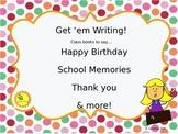 Get 'em Writing:  EDITABLE Class Books