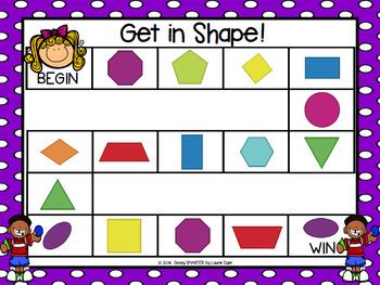 Get in Shape!:  NO PREP Flat Shape Identification Board Game