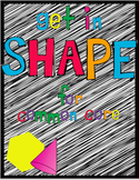 Get in Shape for Common Core: 2D and 3D Shapes