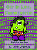 Get in line Frankenstein, a number order game