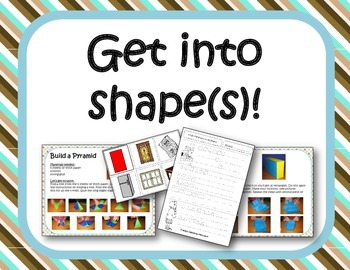 Get into shapes - shape games, worksheets and crafts