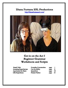 Get in on the Act I Beginner Grammar Video Worksheets