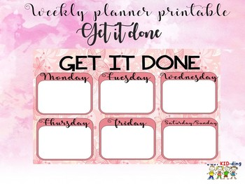 Get it done weekly planner