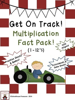 Get on Track: Multiplication Fact Practice Pack!