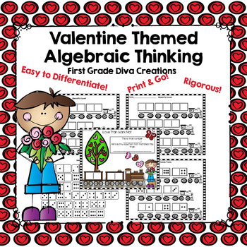 A Valentine's Algebraic Thinking Math Center