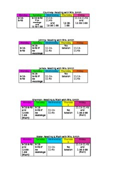 Get organized with student desk schedules