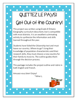 Get out of the country! Quittez le pays!