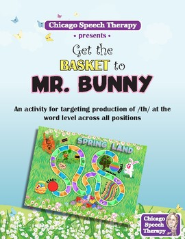 Get the Basket to Mr. Bunny - A Game for Voiceless /th/ in All Word Positions