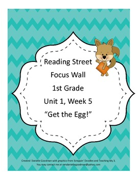 Get the Egg Focus Wall Posters Reading Street Grade 1, CC 2013