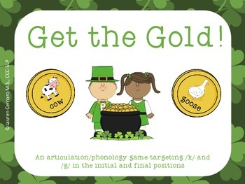 Get the Gold: An Articulation/Phonology Game Targeting /k/ and /g/