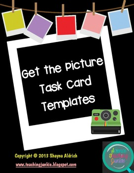 Get the Picture Task Card Templates