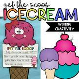 Get the Scoop Writing Craftivity