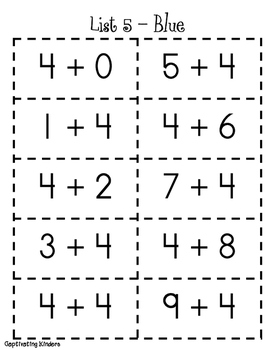Get the Scoop on Math Facts ~ 1st
