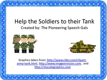 Get the Soldiers to their Tank {An open ended activity}