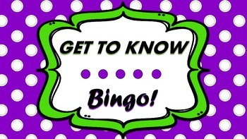 Get to Know Bingo