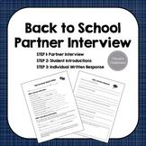 Back to School Partner Interview