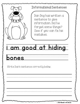 Get to Know Kids with Back to School Sentence Writing and Editing