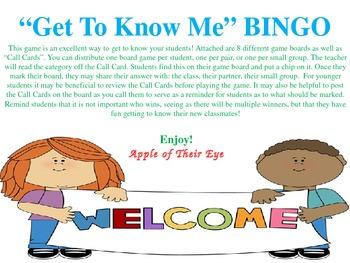 Get to Know Me - BINGO
