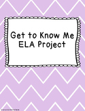Get to Know Me ELA Project